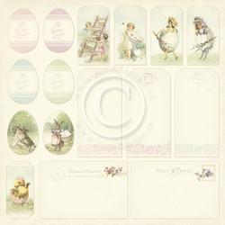 Pion Design Easter Greetings skräppipaperi Tags
