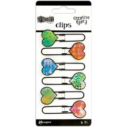 Dylusions Creative Dyary Clips, paperiliittimet, 6 kpl