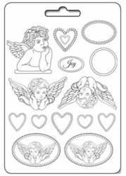 Stamperia Maxi Mould -muotti Angels and Hearts
