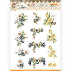 Precious Marieke Spring Delight 3D-kuvat Violets and Daffodils