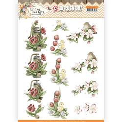 Precious Marieke Spring Delight 3D-kuvat Red Flowers