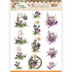 Precious Marieke Spring Delight 3D-kuvat Purple Crocus