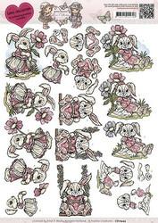 Yvonne Creations leikattavat 3D-kuvat, Love Bunny