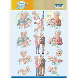 Yvonne Creations Active Life leikattavat 3D-kuvat Grandparents