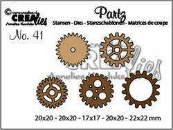 Crealies stanssisetti Gears, small