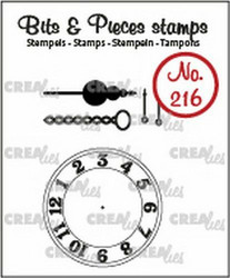 Crealies Bits & Pieces -leimasinsetti Clock, Chain and Pendulum