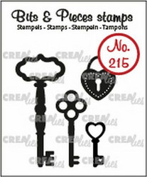 Crealies Bits & Pieces -leimasinsetti Keys and Padlock