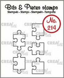 Crealies Bits & Pieces -leimasinsetti Jigsaw, outline