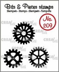 Crealies Bits & Pieces -leimasinsetti Gears, solid