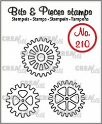 Crealies Bits & Pieces -leimasinsetti Gears, outline