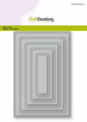 CraftEmotions Big Nesting stanssisetti Rectangles, Rounded Corners