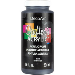 DecoArt Crafter's Acrylic -maali, sävy Black, 473 ml