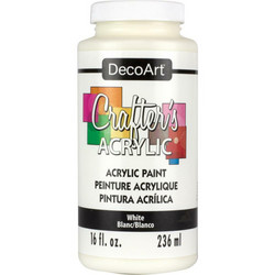 DecoArt Crafter's Acrylic -maali, sävy White, 473 ml