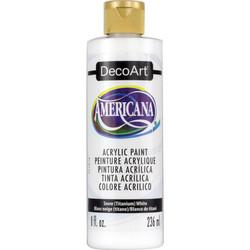 DecoArt Americana -maali, sävy Snow (Titanium) White, 236 ml