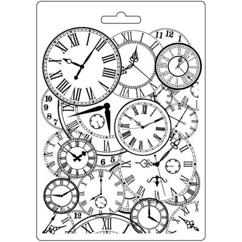 Stamperia Clocks -muotti (tekstuurilevy)