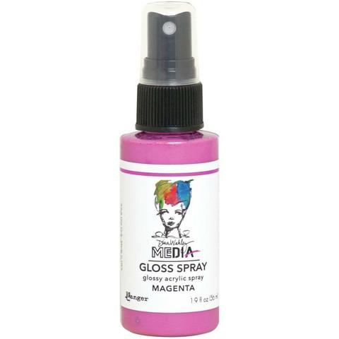 Dina Wakley Media Gloss Spray -suihke, sävy Magenta, 56 ml
