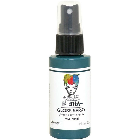 Dina Wakley Media Gloss Spray -suihke, sävy Marine, 56 ml