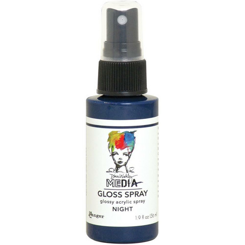 Dina Wakley Media Gloss Spray -suihke, sävy Night, 56 ml