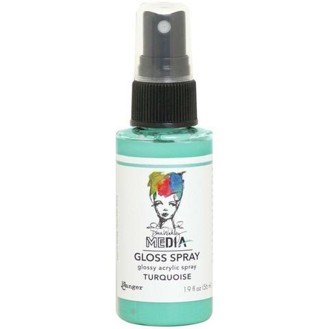 Dina Wakley Media Gloss Spray -suihke, sävy Turquoise, 56 ml