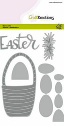 CraftEmotions Easter Basket with Eggs -stanssisetti
