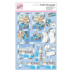 Anita's Foiled Decoupage 3D-kuvat Sail Away
