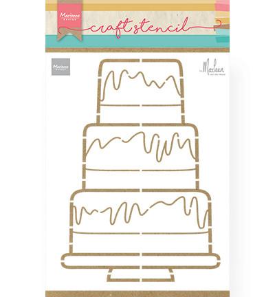 Marianne Design sapluuna Party Cake By Marleen