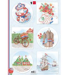 Marianne Design korttikuvat I Love Holland, Bicycle