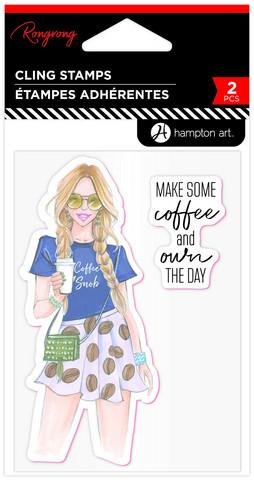Hampton Art leimasinsetti Rongrong, Coffee Snob