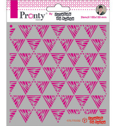 Pronty sapluuna Triangles Pattern by Julia Woning