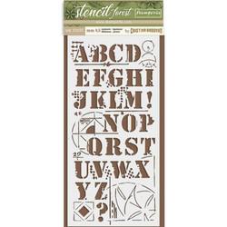 Stamperia sapluuna Forest Alphabet