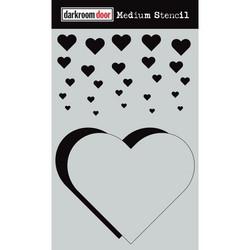 Darkroom Door sapluuna Cascading Hearts