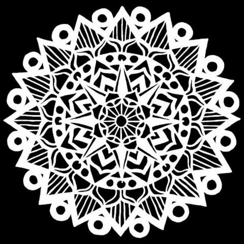 Crafter's Workshop sapluuna Striped Mandala