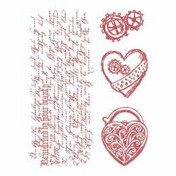 Couture Creations Steampunk Dreams leimasinsetti Heart Locket