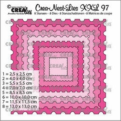 Crealies XXL 97 -stanssisetti Stamp Square