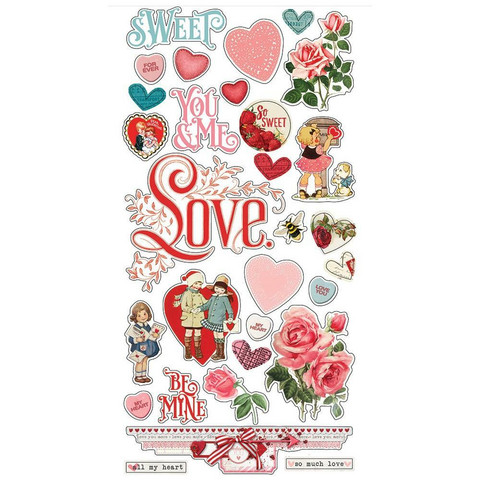 Simple Stories My Valentine Chipboard -tarrat