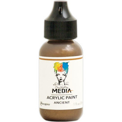 Dina Wakley Media Metallic akryylimaali, sävy Ancient, 29 ml