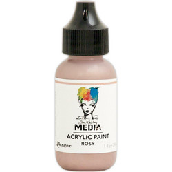 Dina Wakley Media Metallic akryylimaali, sävy Rosy, 29 ml