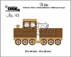Crealies stanssisetti Train and Wagon, small