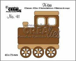 Crealies stanssisetti Train, medium