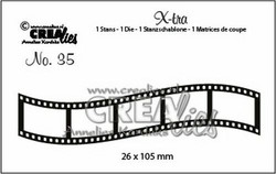 Crealies stanssisetti Curved Filmstrip, small