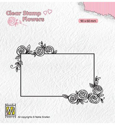 Nellie's Choice leimasin Rectangle Frame With Roses