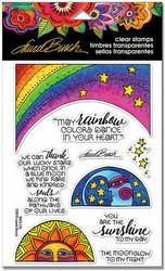Stampendous leimasinsetti Rainbow Moon
