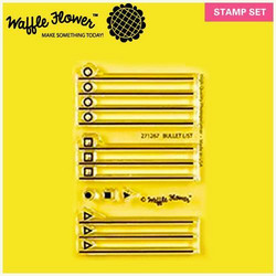 Waffle Flower leimasinsetti Bullet List