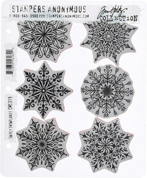 Stampers Anonymous, Tim Holtz leimasinsetti Swirly Snowflakes