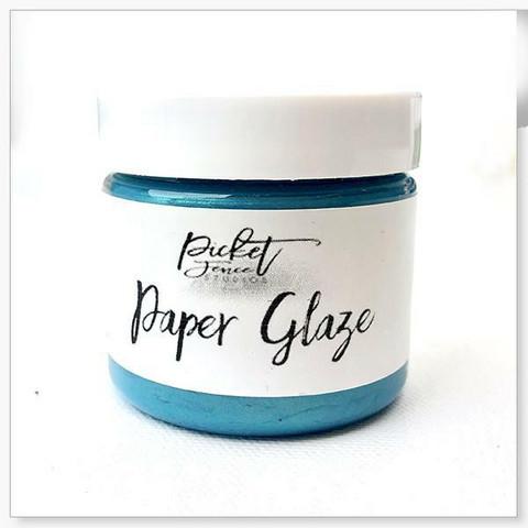 Picket Fence Paper Glaze, sävy Ocean Poppy