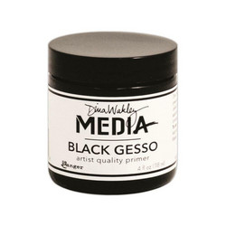 Dina Wakley Media Gesso, musta, 118 ml