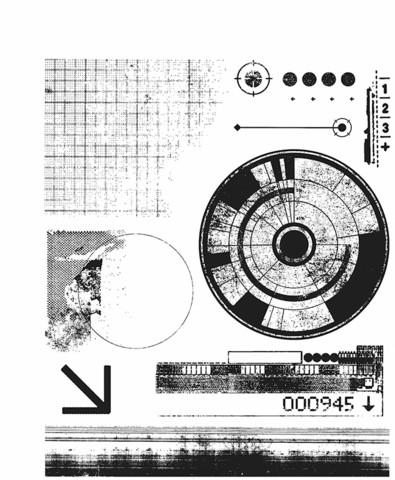 Stampers Anonymous, Tim Holtz leimasinsetti Glitch 1