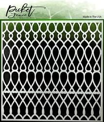 Picket Fence sapluuna Knots Scales