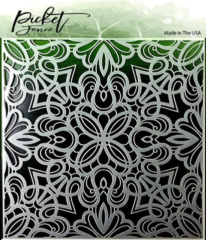 Picket Fence sapluuna Fancy Flourishes
