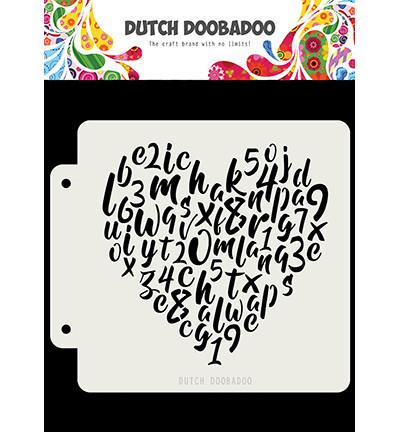 Dutch Doobadoo Alphabet Heart -sapluuna